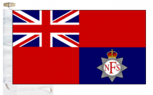 National Fire Service 1941 to 1948 Ensign Courtesy Boat Flags (Roped and Toggled)
